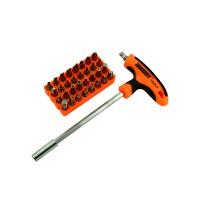 PRS JM-6105 Professional Screwdriver 34 in 1 Bit Set (Orange)