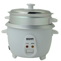 Bear 3-RCT101 1.0L Rice Cooker with Steamer Tray (White / Grey)