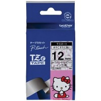 Brother Ptouch Black on Hello Kitty Tape 12mm x 5m (TZE-HW31)