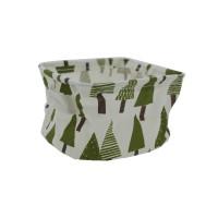 PRS Canvas Storage Basket- Pine Tree