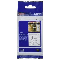 Brother Ptouch Black on White Tape Non-Laminated 9mm x 8m (TZe-N221)
