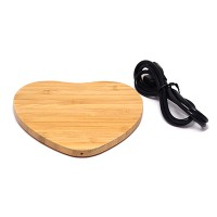 PRS 916 Wireless Charger Wooden (Heart-Shape)