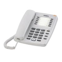 Uniden AS7201 Basic Single Line Corded Phone (White/Black)