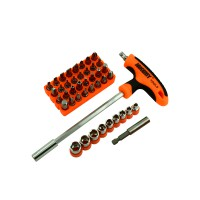 PRS JM-6106 Professional Screwdriver 43 in 1 Bit Set (Orange)