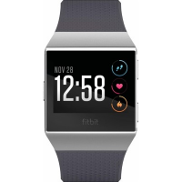Fitbit Ionic Smartwatch 2 Watch Strap Sizes In Box Blue Grey & Silver Grey