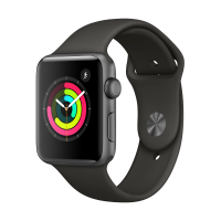 Apple Watch Series 3 GPS 42mm (Space Grey Aluminium Case with Grey Sport Band)