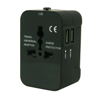 PowerPac PP7973 Travel Adapter With 2XUSB 2.1A