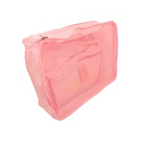 PRS Travel Storage Box 6pcs Per Set (Pink)