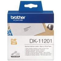 Brother Black on White Label Roll 29mm x 90mm (DK-11201)