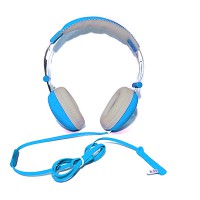 PRS P-HS06 Headset with Mic (Cyan)