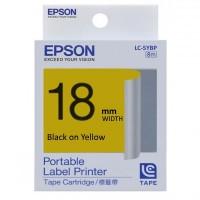 Epson Black on Yellow Tape 18mm x 8m (LC-5YBP)