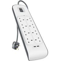 Belkin Surge Plus USB Surge Protector- 8 AC Outlets (BSV804sa2M)