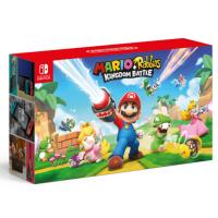 Nintendo Switch Mario + Rabbids Kingdom Battle (Red / Blue Joycon Bundle)