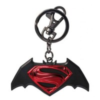 Monogram DC Metal Keyring - Batman Vs Superman Logo (Colour)