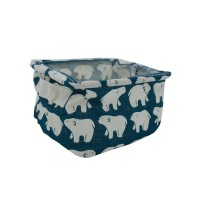 PRS Canvas Storage Basket-Polar Bear