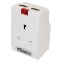 PowerPac PP010U 2XUSB 13Amp Adapter 2.1A