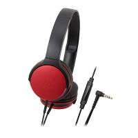 Audio Technica ATH-AR1iS Headphones + Mic (Red)