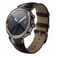 Asus ZenWatch 3 Leather Smart Watch (Gunmetal with Dark Brown)