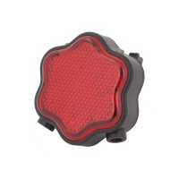 PLG H-008 Bicycle Taillight w Laser Plum Blossom (Red)