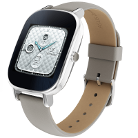 Asus Zenwatch 2 Wren HC Leather Smart Watch (Silver)