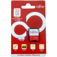 Fujitsu 32GB microSD Retail CL10 w/SD Adaptor