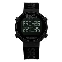 Superdry SYG203BB Digi Pedometer Watch (Black/Black)