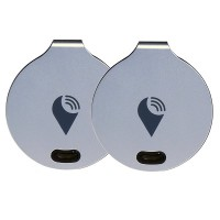 TrackR Bravo Bluetooth Tracking Device - Key Tracker, Phone Finder, Wallet Locator (Bundle of 2 - Silver)