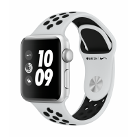 Apple Watch Nike+ Series 3 GPS 38mm (Silver Aluminium Case with Pure Platinum/Black Nike Sport Band)