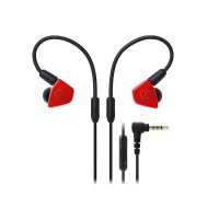 Audio Technica ATH-LS50iS Earphones + Mic (Red)