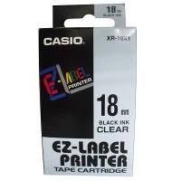 Casio XR-18X Tape (Black on Transparent)