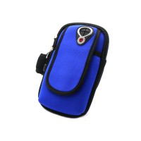 PRS RH-001 Bicycle Arm Bag For Mobile Phone (Dark Blue)