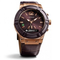 Guess C0001G2 Connect Gents Watch 45mm (Brown & Rose Gold)
