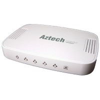 Aztech HomePlug AV 500Mbps 4-Port Gigabit