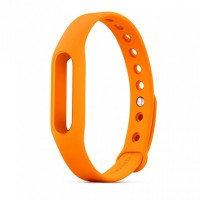 XiaoMi MiBand Pulse HR FItness Tracker Accessory Band (Orange)