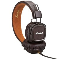 Marshall Major II Headphones w Mic (Brown) (Android Version)