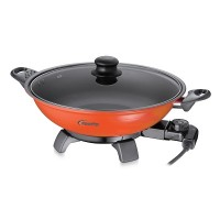 PowerPac PPEC812 12-inch Electric Wok & Steam Boat