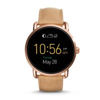 Fossil Q Wander Smart Watch (Light Brown Leather)