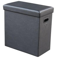 Agva Foldable Storage Ottoman Tall (Black) XYFD