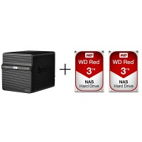 Synology DS418J + WD RED [3TB x 2]