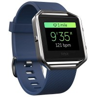 Fitbit Blaze Smart Fitness Watch (Blue) [Large: 17.0 cm–20.6 cm]