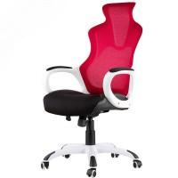Inkagu J21-M105 White Frame with Red Mesh Gaming Chair (Nylon)