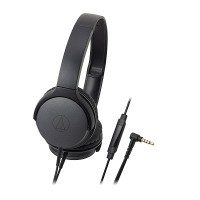 Audio Technica ATH-AR1iS Headphones + Mic (Black)