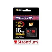 Strontium 16GB MicroSD Nitro Plus w/Adap&USB