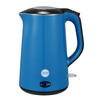 707 1-KE151-BL Double layer Stainless Steel Electric Kettle (Blue)