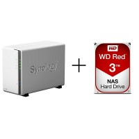 Synology SYNO-WD DS218j + WD RED [3TB x 1]