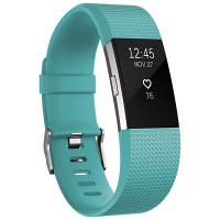 Fitbit Charge 2 Fitness Wristband (Teal) [Large: 17.0 cm–20.6 cm]