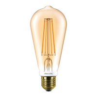 Philips ST64 E27 7-60W 2000K Gold APR LED Classic