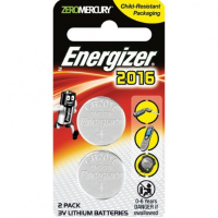 Energizer ECR2016BS2 Lithium Coin CR2016 2pc Pack