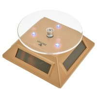 VALORE Solar Display Stand With LED Light LA04 (Gold)