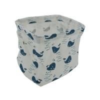 PRS Canvas Storage Basket-Whale